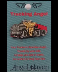 Trucking Angel Pin