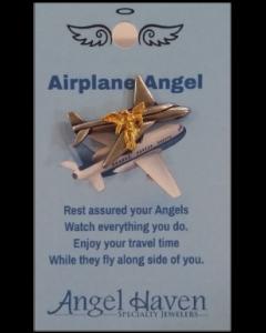 Airplane Angel Pin