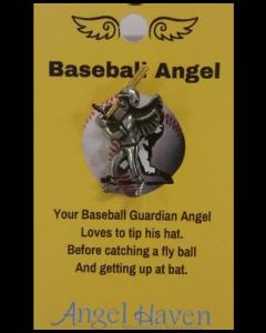 Baseball Angel Pin