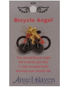 Bicycle Angel Pin