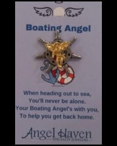 Boating Angel Pin