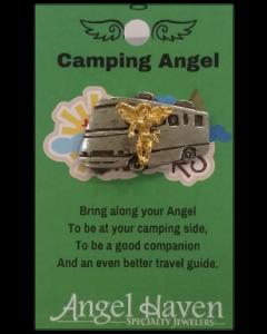 Camping Angel Pin