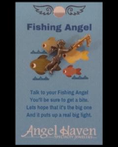 Fishing Angel Pin