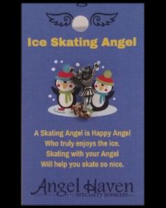 Ice Skating Angel Pin
