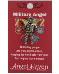Military Angel Pin