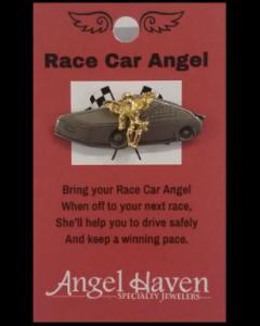 Race Car Angel Pin
