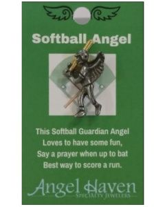 Softball Angel Pin
