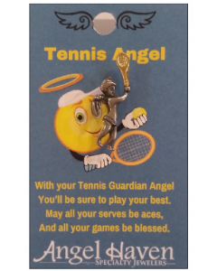 Tennis Angel Pin