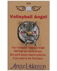 Volley Ball Angel Pin